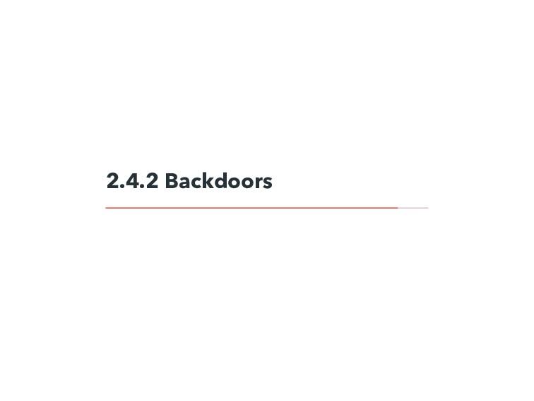 2.4.2 Backdoors