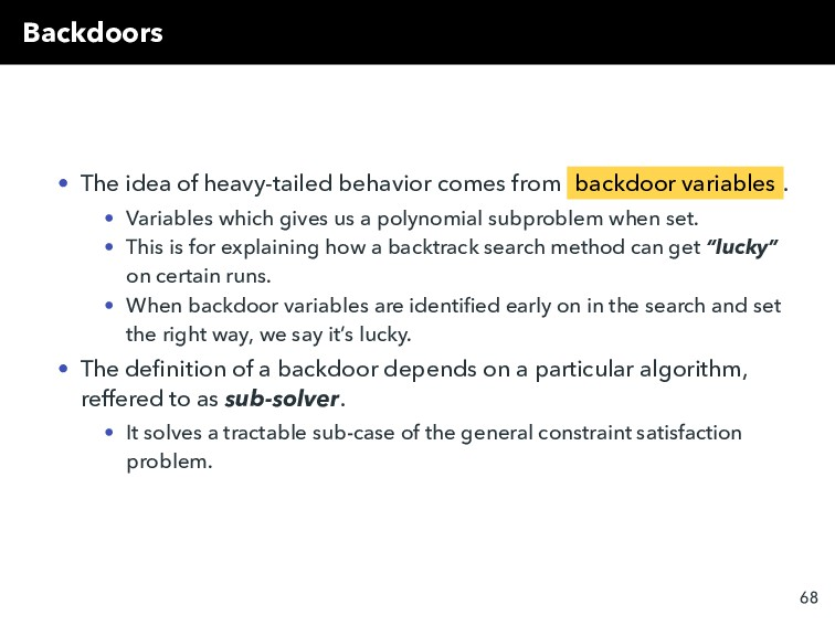 Backdoors • The idea of heavy-tailed behavior c...