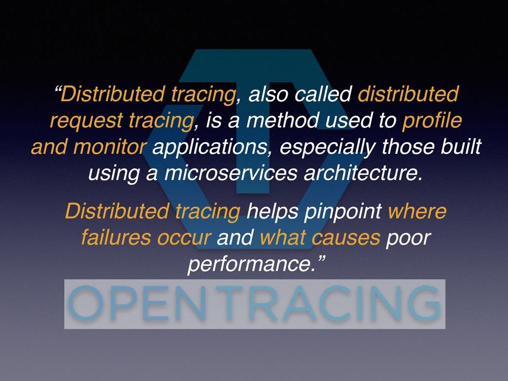 """Distributed tracing, also called distributed r..."