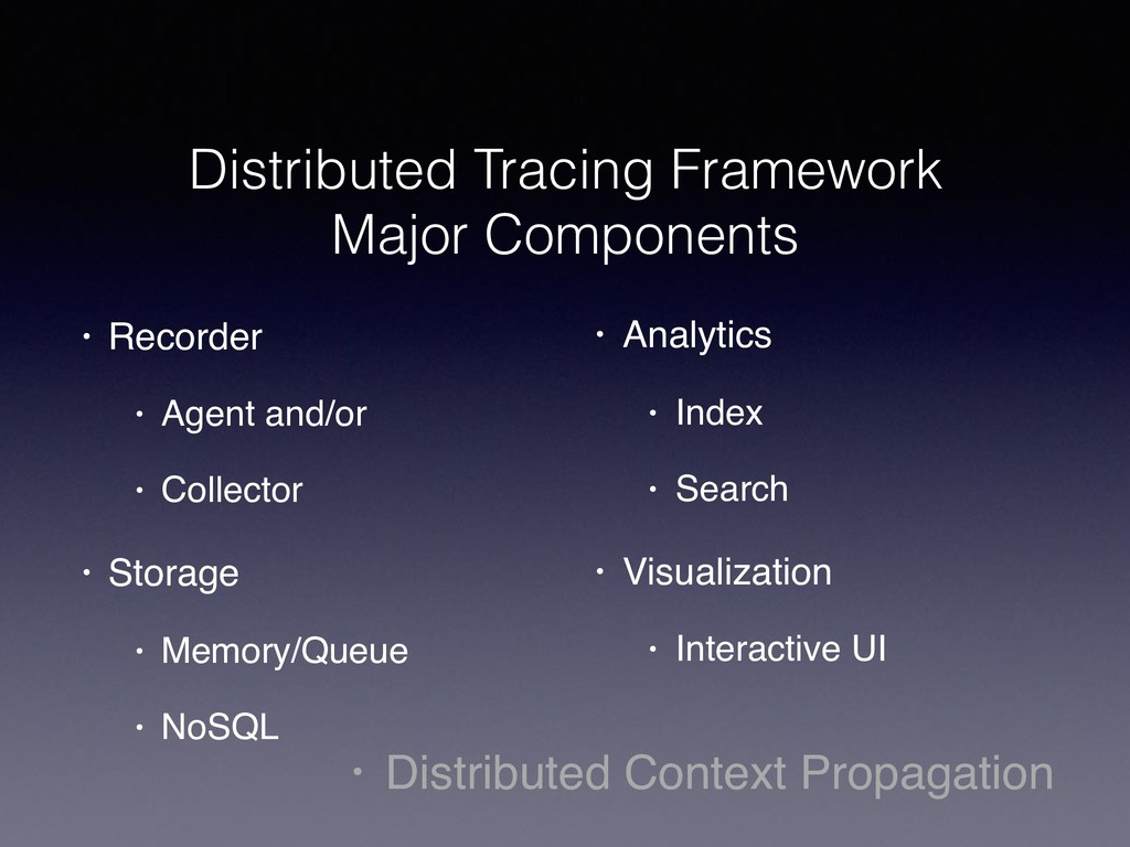 Distributed Tracing Framework