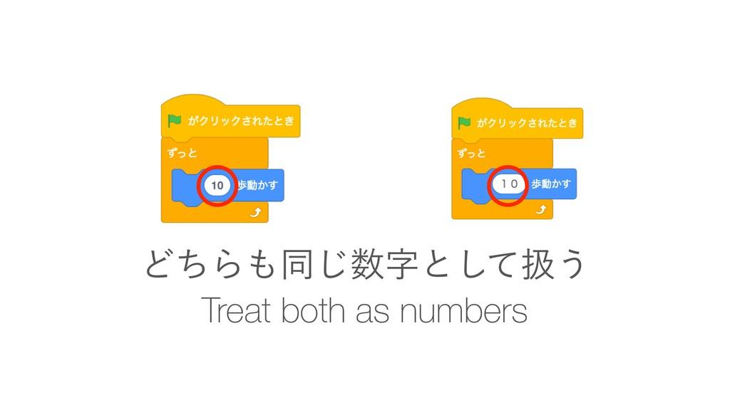 Treat both as numbers ͲͪΒಉ͡ͱͯ͠ѻ͏