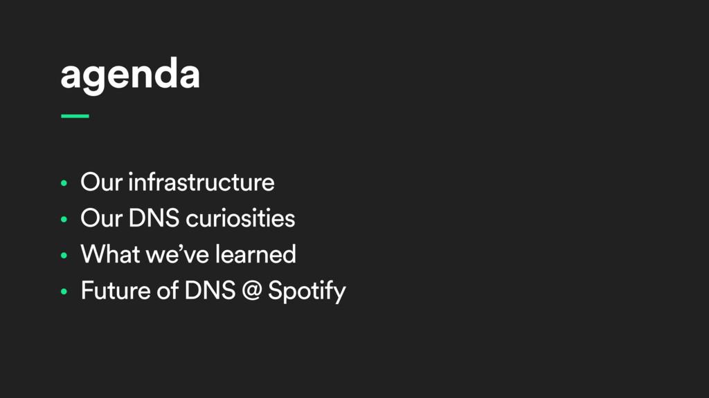 agenda • Our infrastructure • Our DNS curiositi...