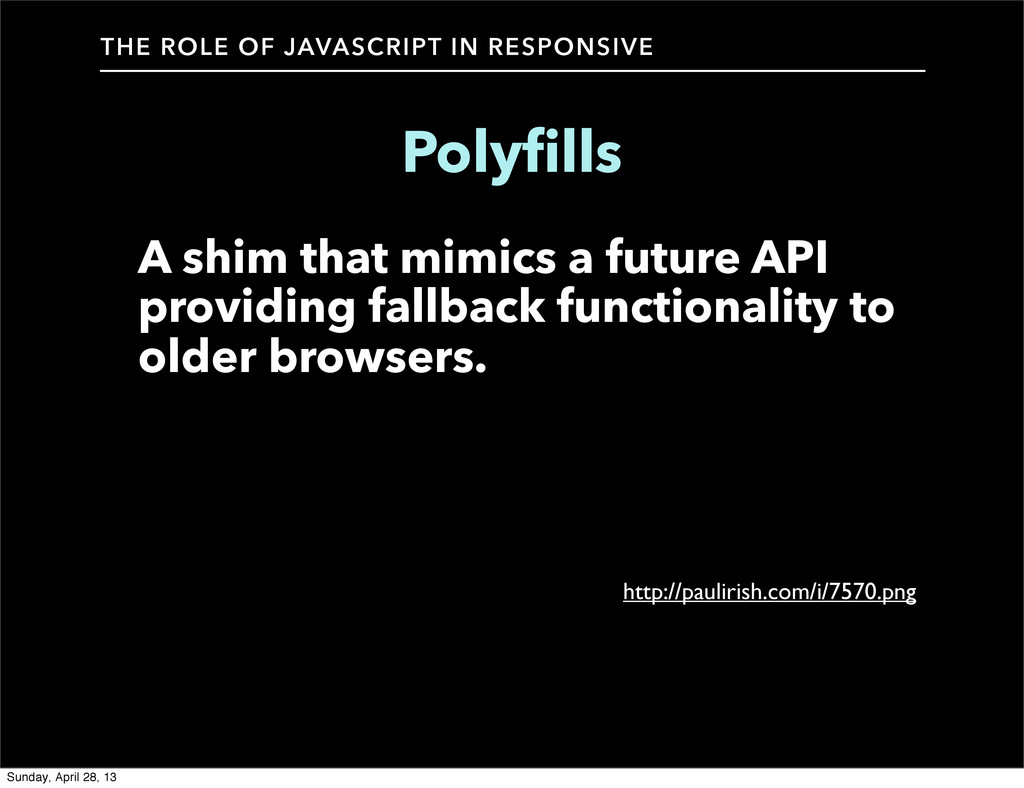 THE ROLE OF JAVASCRIPT IN RESPONSIVE Polyfills ...