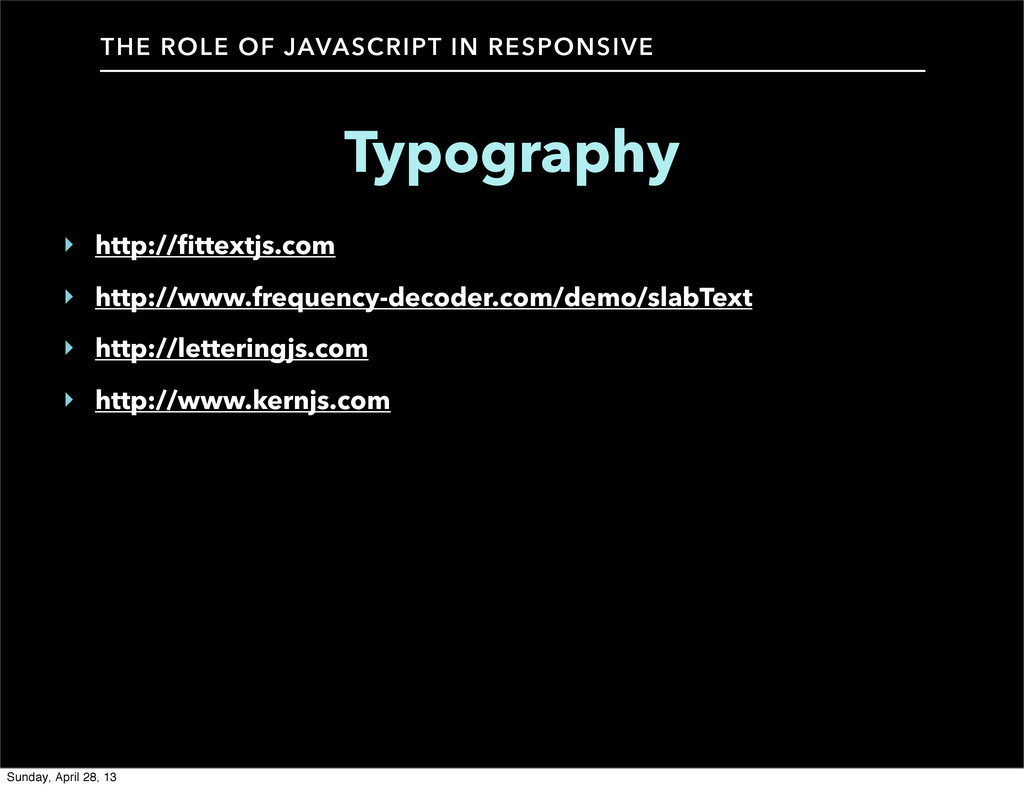 THE ROLE OF JAVASCRIPT IN RESPONSIVE Typography...