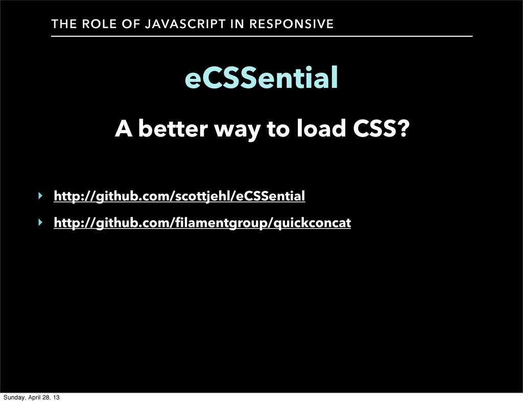 A better way to load CSS? THE ROLE OF JAVASCRIP...