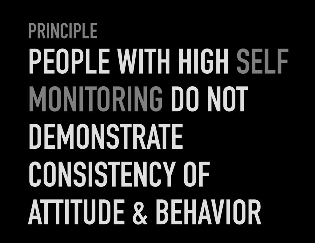 PRINCIPLE PEOPLE WITH HIGH SELF MONITORING DO N...