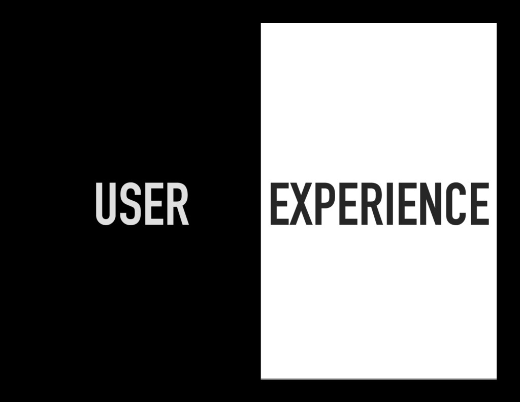 EXPERIENCE USER