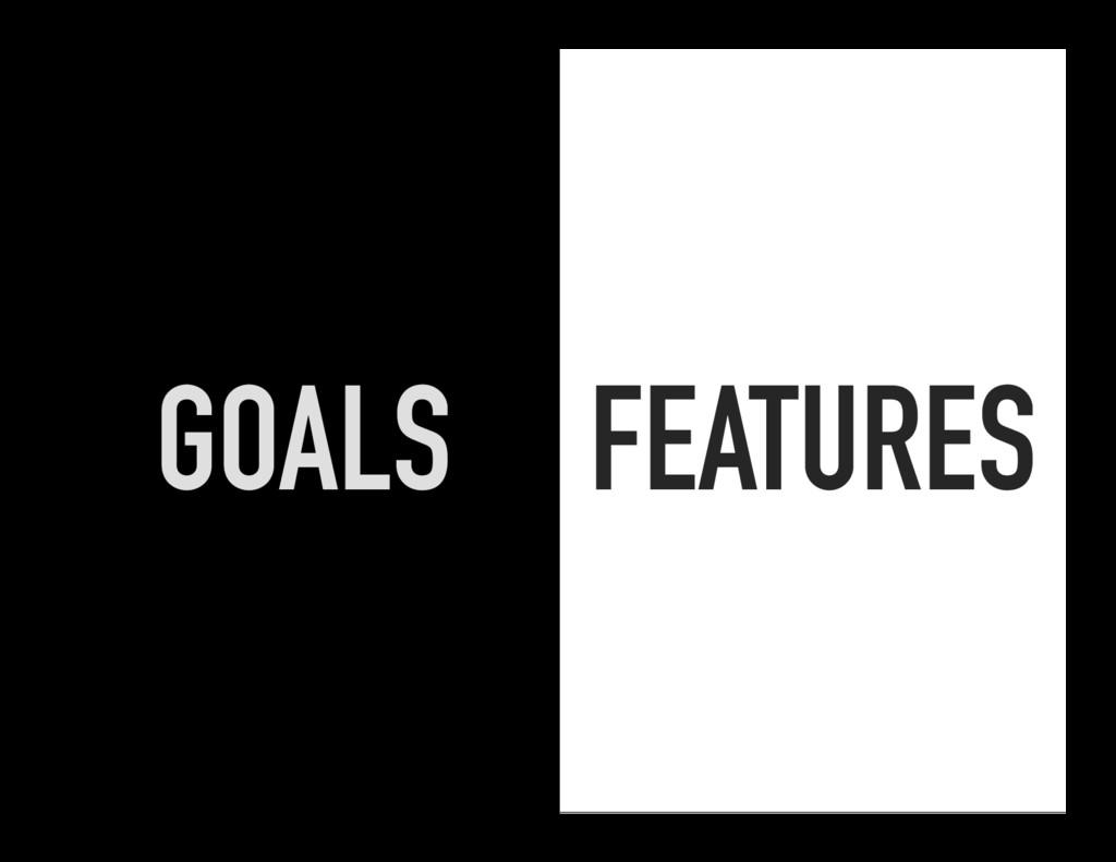 FEATURES GOALS