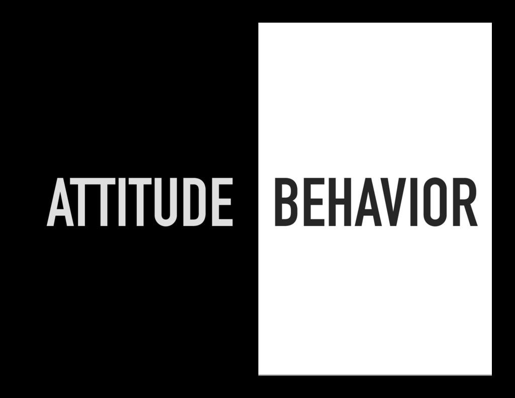 BEHAVIOR ATTITUDE