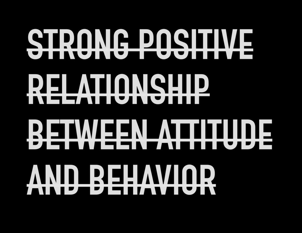 STRONG POSITIVE RELATIONSHIP BETWEEN ATTITUDE A...