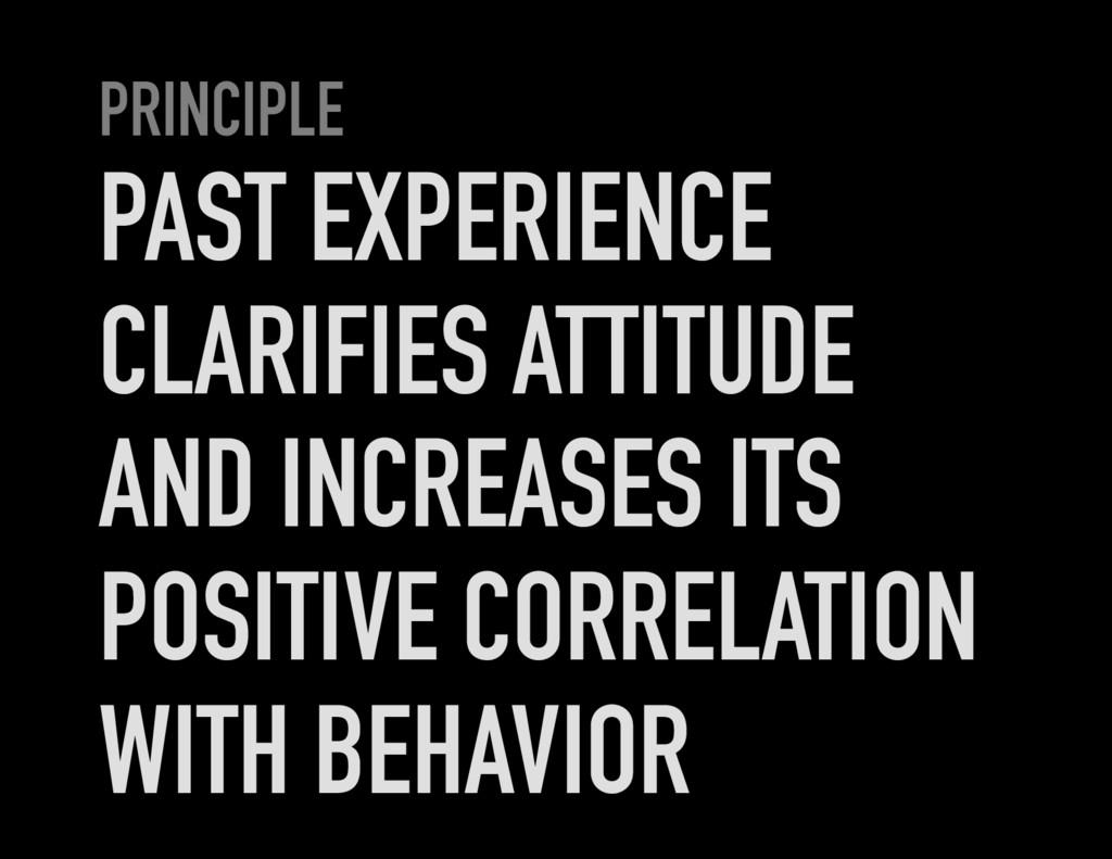 PRINCIPLE PAST EXPERIENCE CLARIFIES ATTITUDE AN...