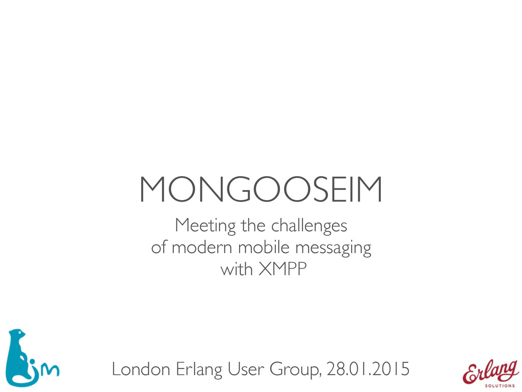 MONGOOSEIM Meeting the challenges