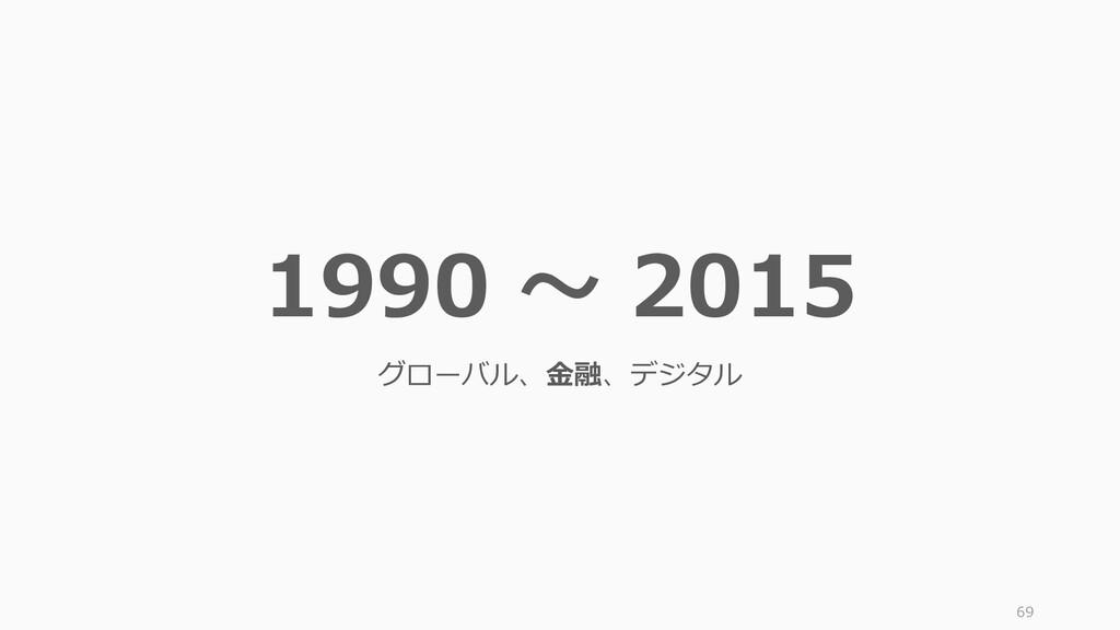 69 1990 ~ 2015 グローバル、金融、デジタル