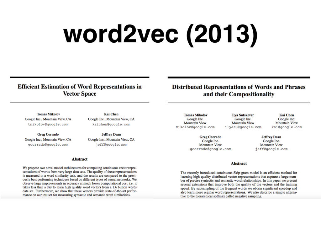 word2vec (2013)