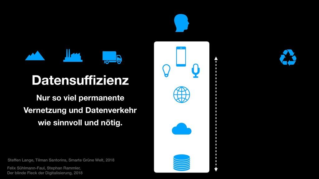 Datensuffizienz Nur so viel permanente Vernetzu...
