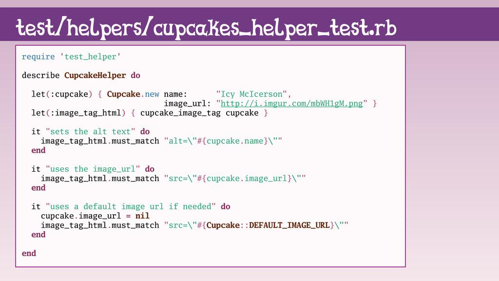 require 'test_helper' describe CupcakeHelper do...