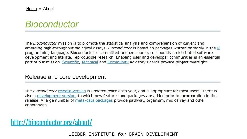 LIEBER INSTITUTE for BRAIN DEVELOPMENT http://b...