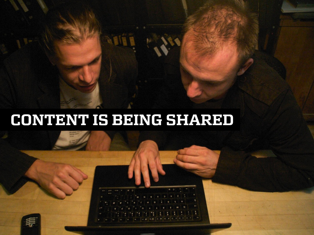 CONTENT IS BEING SHARED