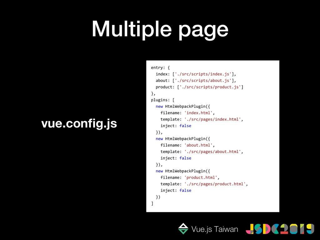 Multiple page vue.config.js