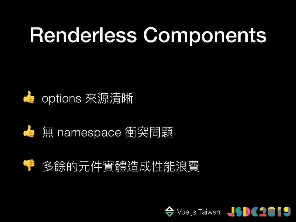 Renderless Components  options 來來源清晰  無 namespa...