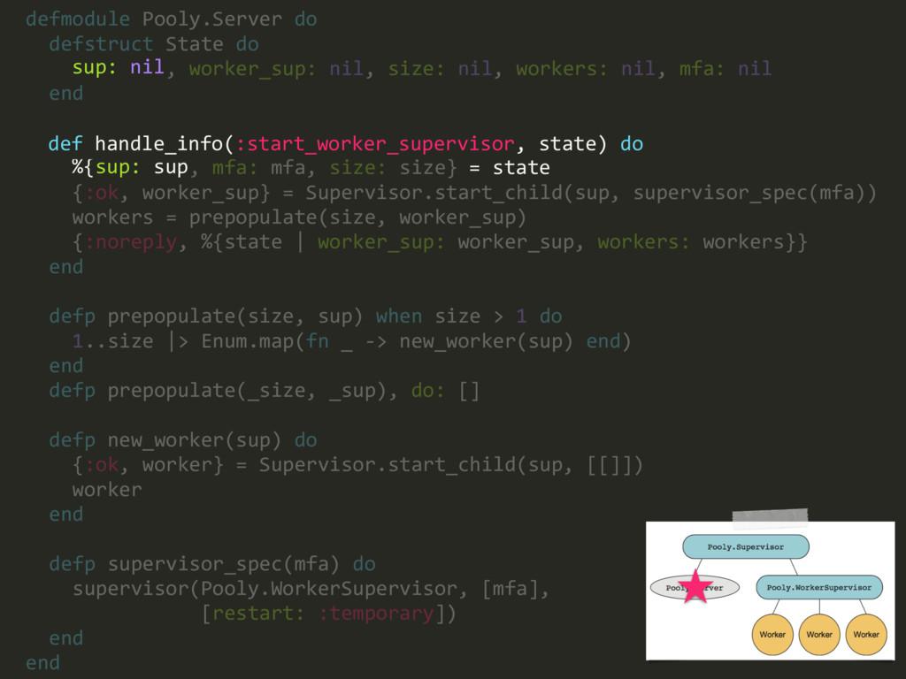 defmodule Pooly.Server do defstruct State do su...
