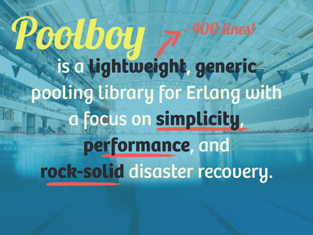 is a lightweight, generic pooling library for E...