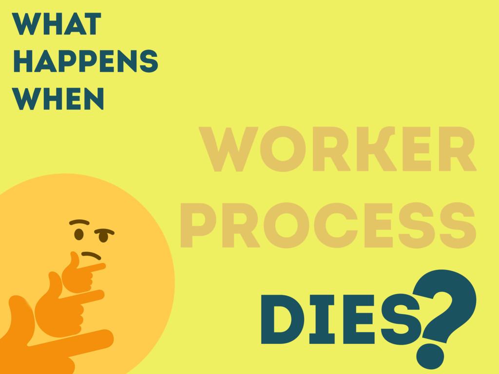 What happens when WORKER PROCESS DIES ?