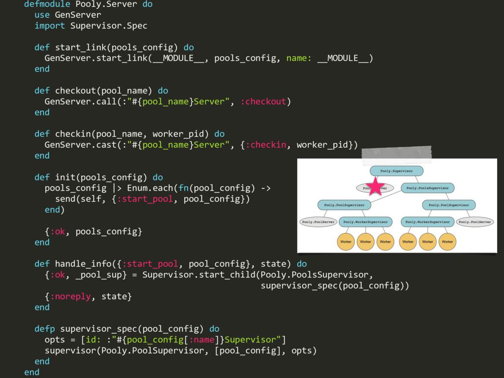 defmodule Pooly.Server do use GenServer import ...
