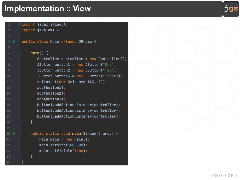 jgs 564 00000100 Model-View-Controller