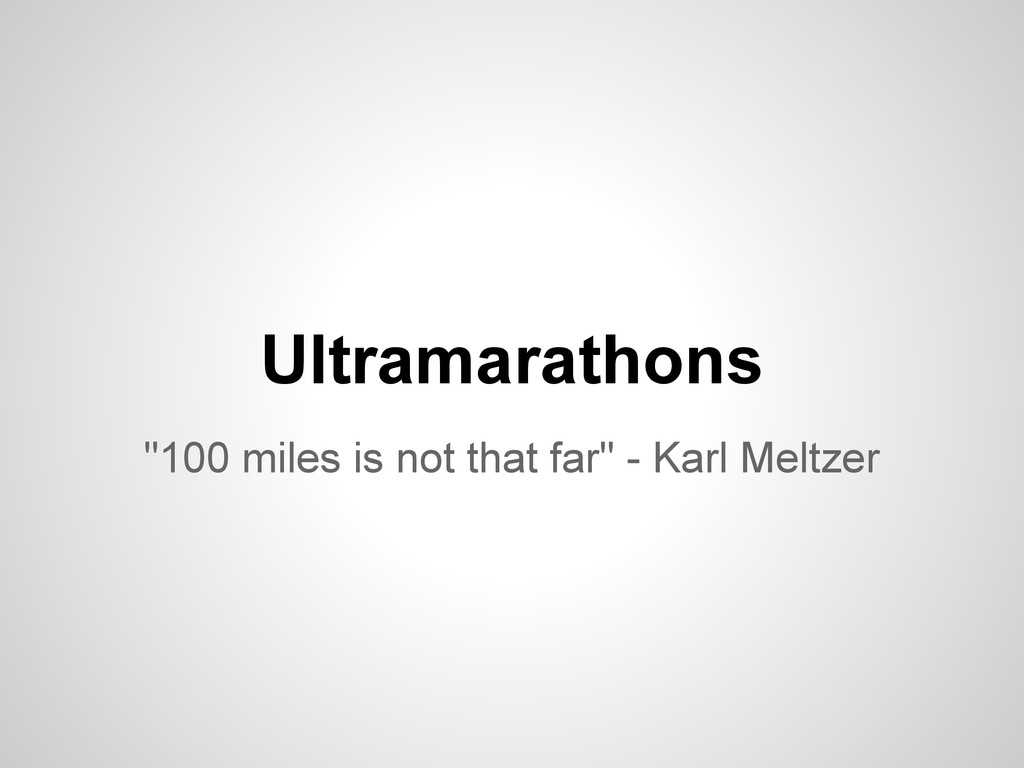 "Ultramarathons ""100 miles is not that far"" - Ka..."