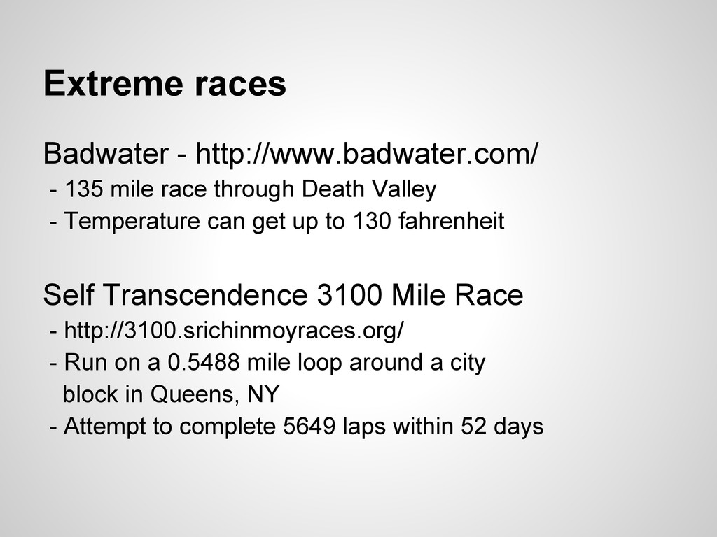 Extreme races Badwater - http://www.badwater.co...