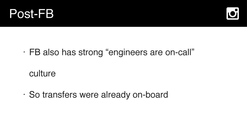 """Post-FB • FB also has strong """"engineers are on-..."""