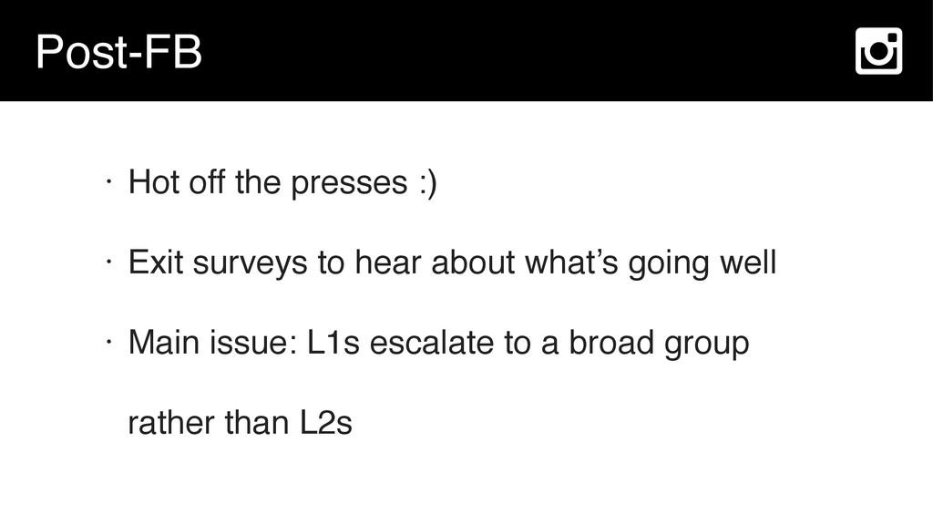 Post-FB • Hot off the presses :) • Exit surveys...