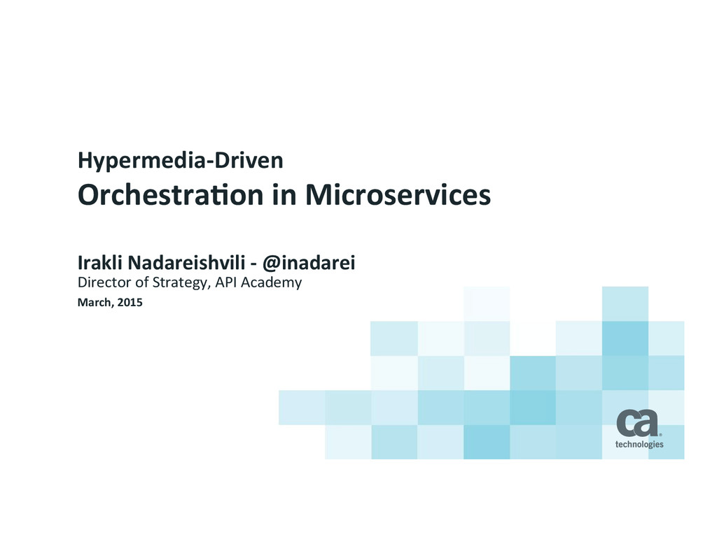 Hypermedia-­‐Driven	
