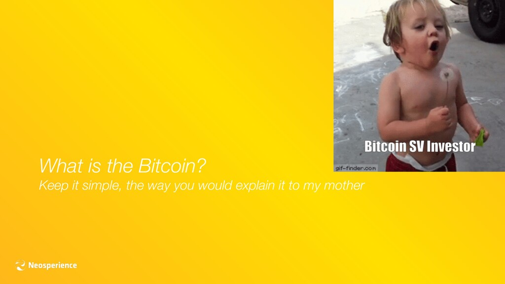 What is the Bitcoin? Keep it simple, the way yo...