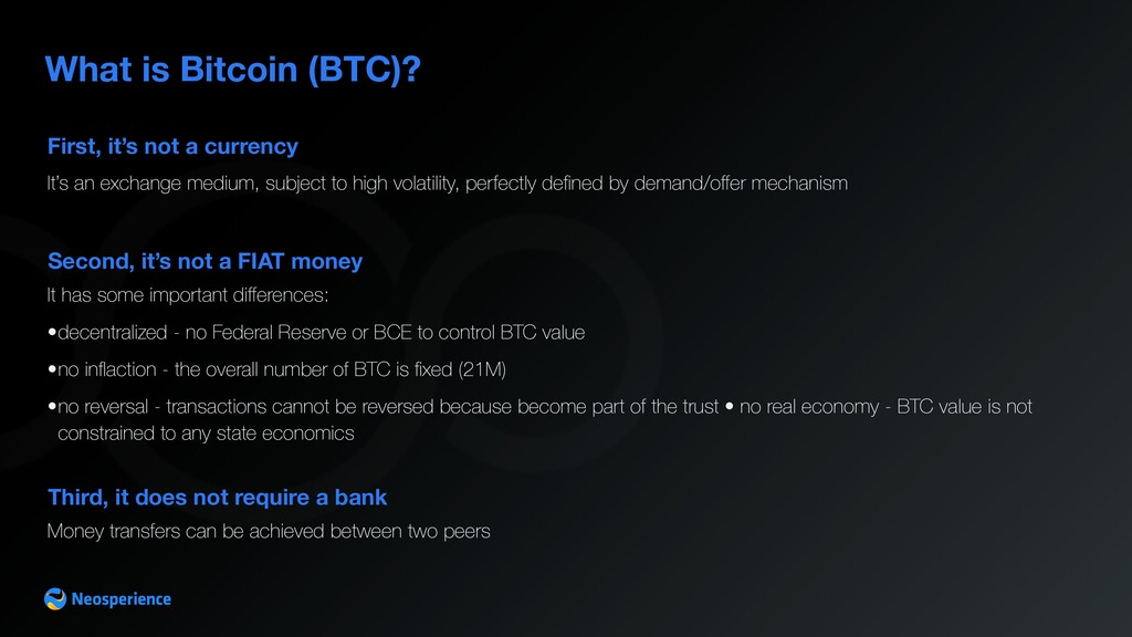 First, it's not a currency What is Bitcoin (BTC...