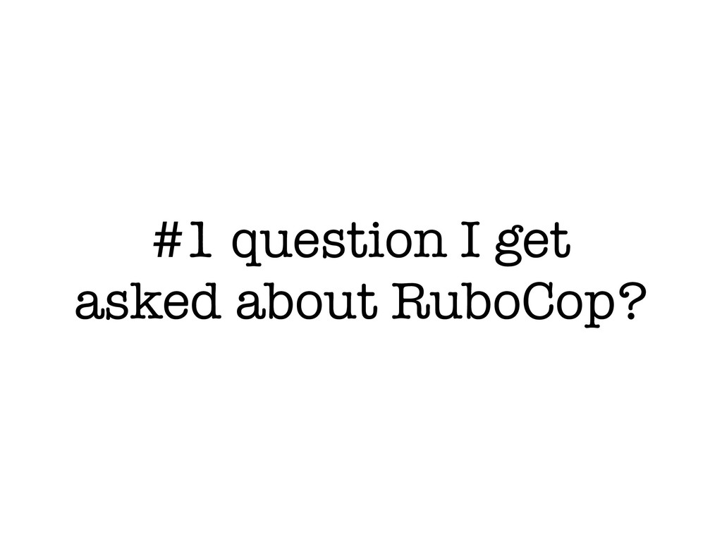 #1 question I get asked about RuboCop?