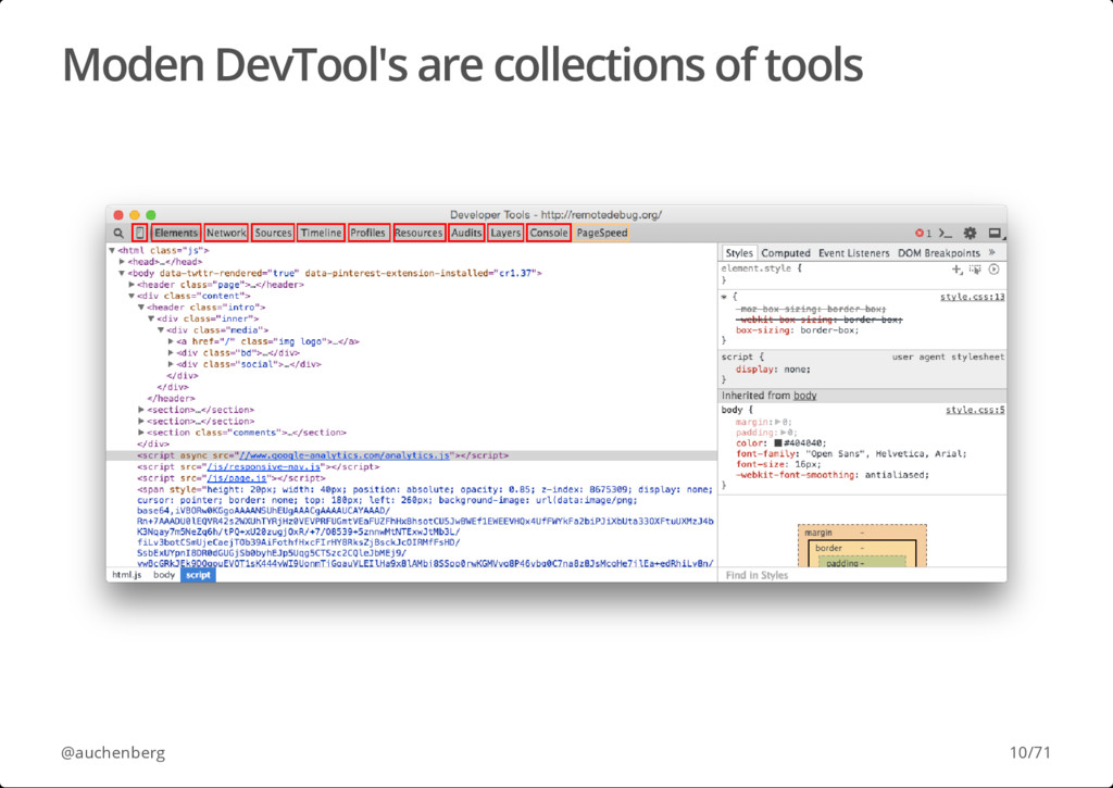 Moden DevTool's are collections of tools @auche...