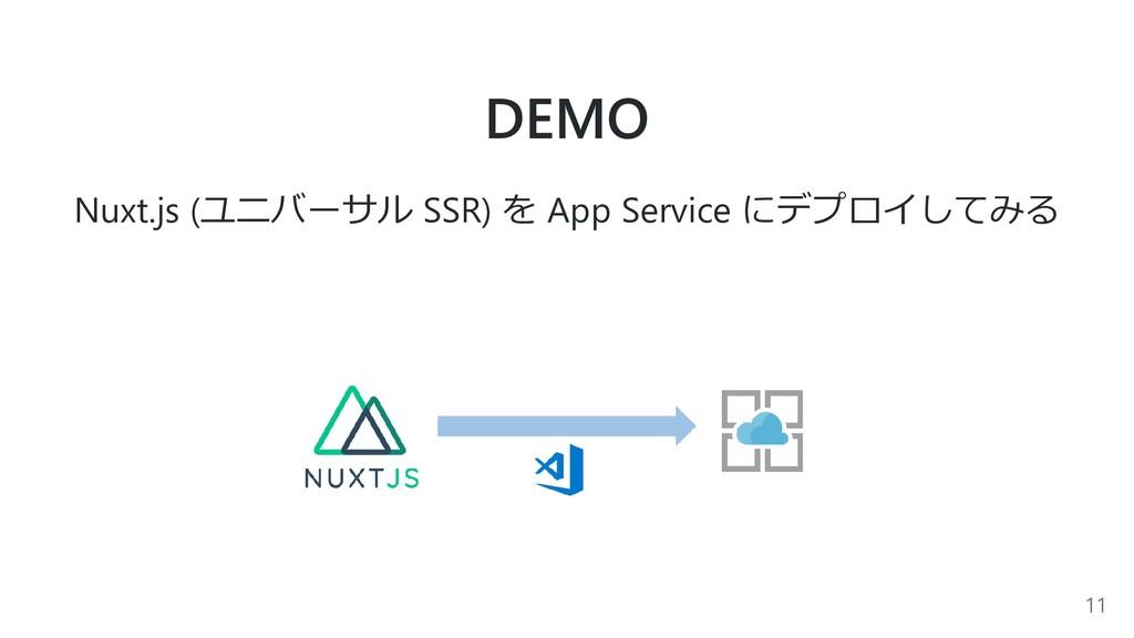 DEMO Nuxt.js (ユニバーサル SSR) を App Service にデプロイして...