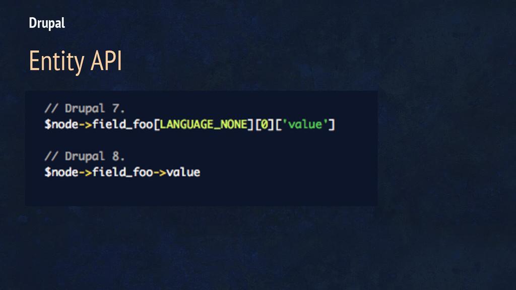 Drupal Entity API