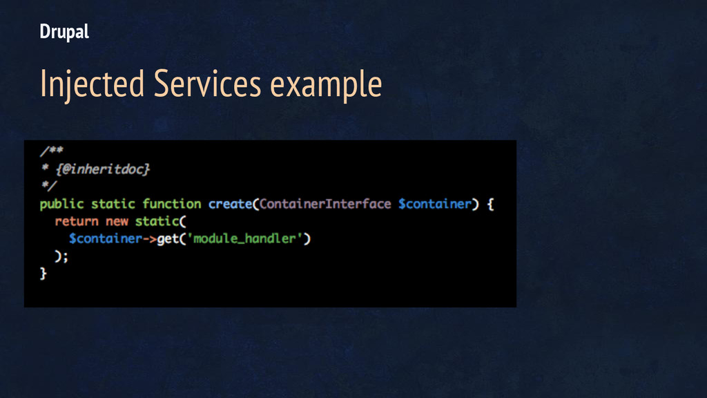 Drupal Injected Services example