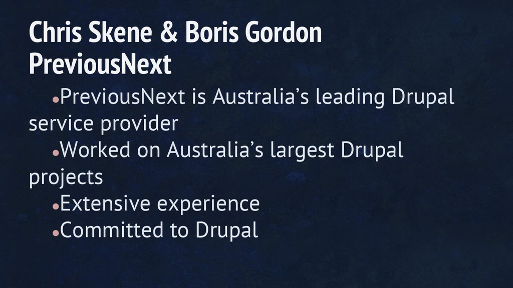 ●PreviousNext is Australia's leading Drupal ser...