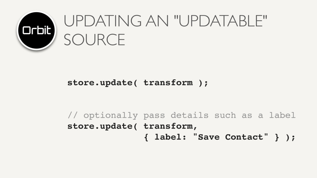 """UPDATING AN """"UPDATABLE"""" SOURCE store.update( tr..."""