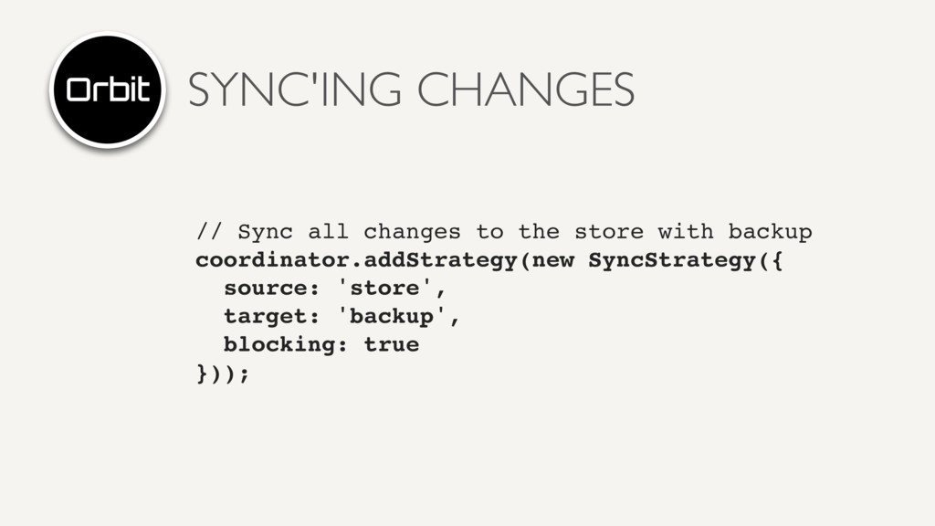 SYNC'ING CHANGES // Sync all changes to the sto...