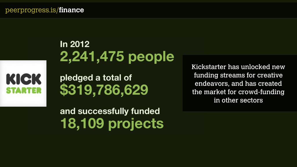 peerprogress.is/finance Kickstarter has unlocke...