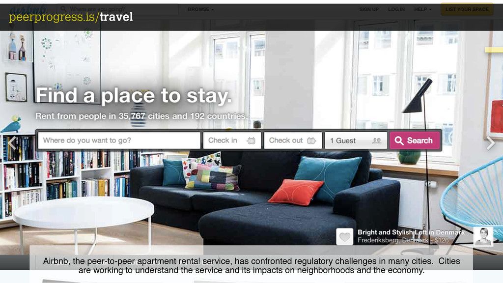 peerprogress.is/travel Airbnb, the peer-to-peer...