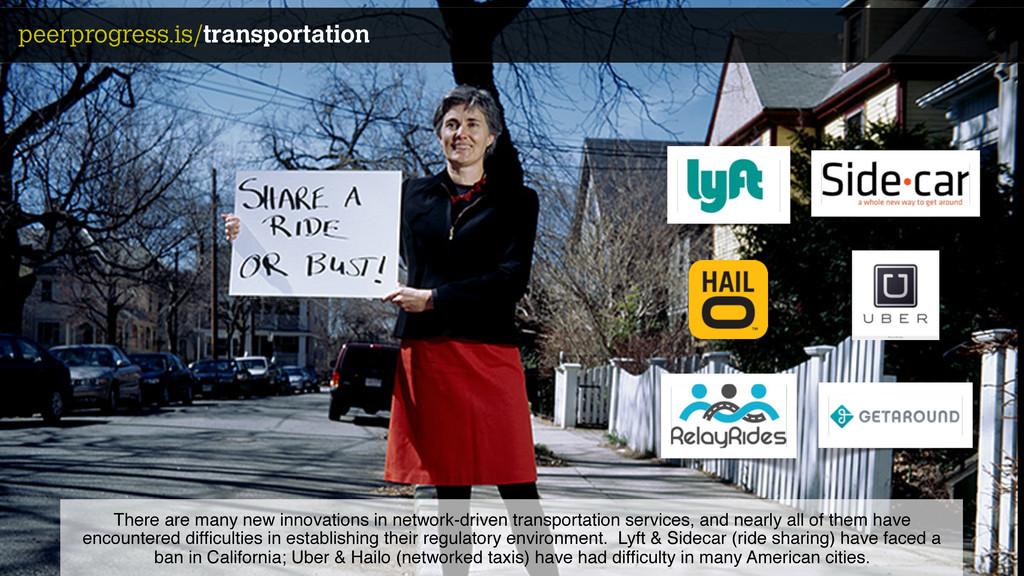 lyft/sidecar peerprogress.is/transportation The...