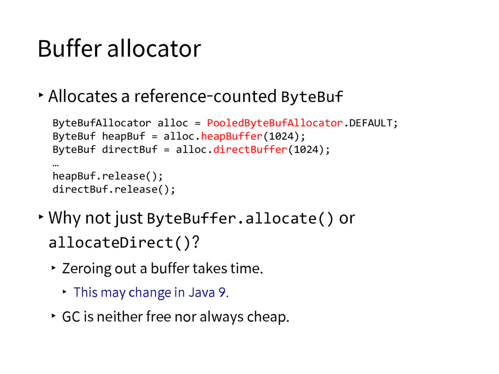 Buffer allocator ▸Allocates a reference-counted...