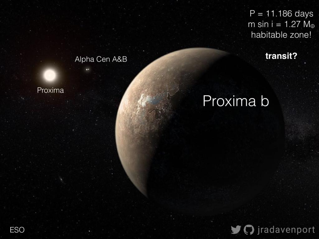 Proxima Alpha Cen A&B Proxima b jradavenport P ...