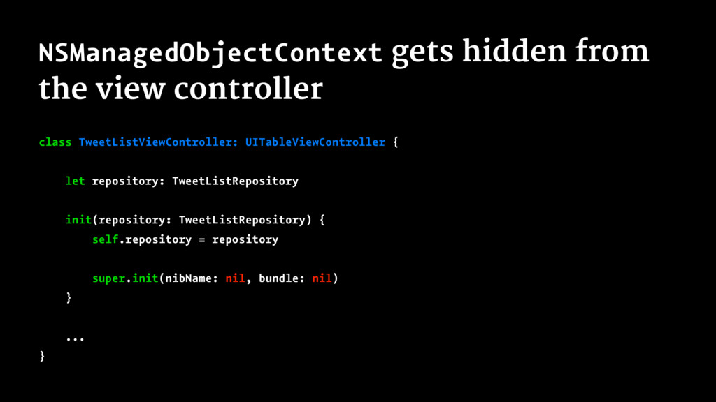 NSManagedObjectContext gets hidden from the vie...